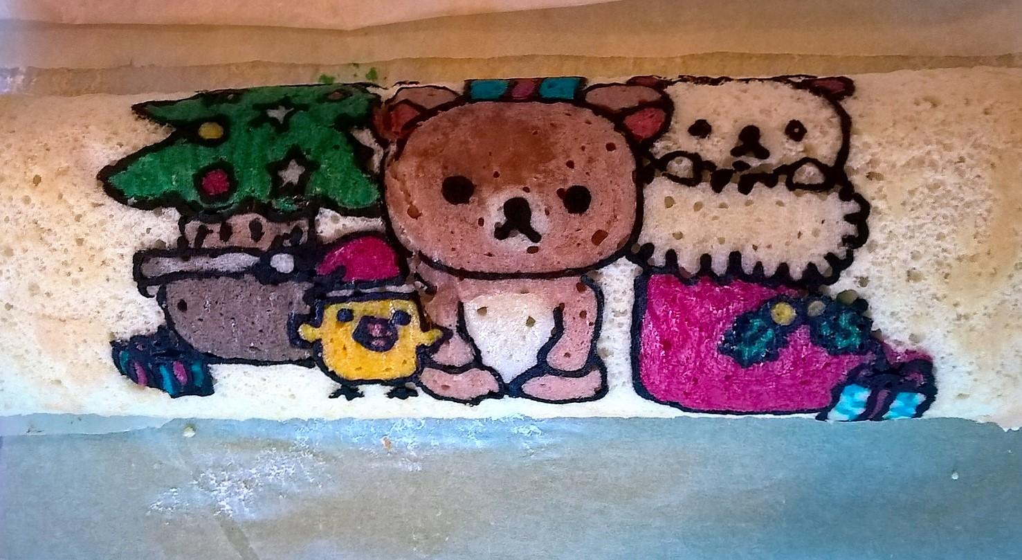 Christmas Relakuma roll cake 1